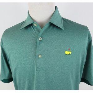 Masters Tech Medium Golf Polo Shirt Green Stretch